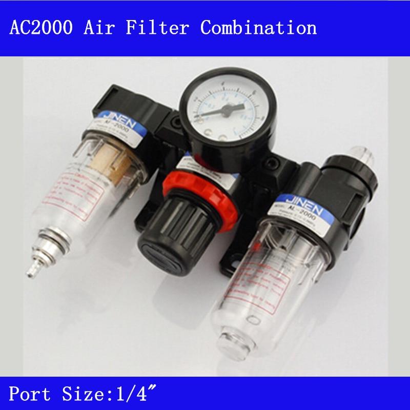 PT1/4 Pneumatic Parts Air Source Treatment Unit Pressure Regulator Oil/water Separation AC2000<br>