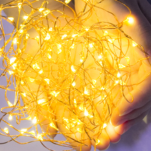 LED String Lights Christmas Lights 2M 3M Copper Wire String Battery Waterproof Fairy Light Outdoor for Holiday Wedding Decor(China)