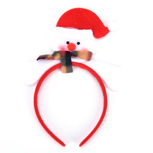 Christmas Headband Party Decor Adult Children Christmas Gift Santa Snowman Bear Double Hair Band Clasp Head Hoop(China)