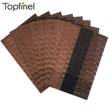 Top Finel 2016 Set of 8 PVC Bamboo Plastic Placemats for Dining Table Runner Linen Place Mat in Kitchen Accessories Cup Wine Mat