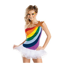 Sexy High School Cheerleader Costume sets Girl mise en scene Cheer Girls dance C Uniform Party Outfit dancing dress(China)