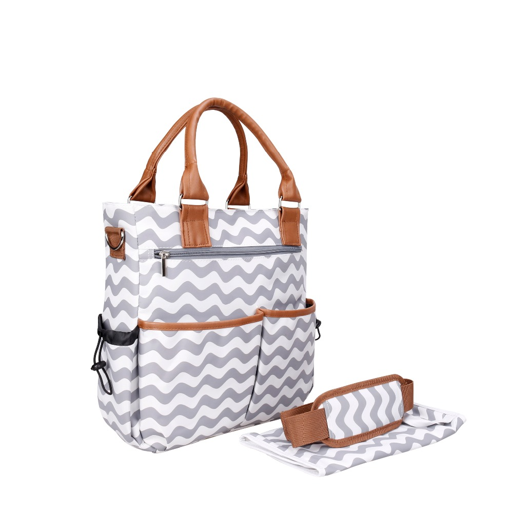 New Multifunctional Striped Maternity Mummy Nappy Bags Tote Messenger Bags Baby Stroller Bags Shoulder Han Baby Diaper Bag<br>