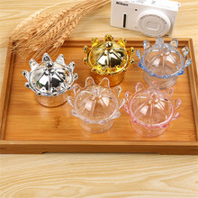 20pcs Plastic Crown Candy Box Clear Transparent Baby Shower Chocolate Box Wedding Christams Present Gift Packing Box