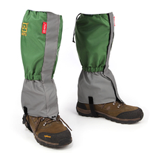 Unisex Waterproof Windproof Legging Gaiter Leg Cover Camping Hiking Ski Boot Travel Shoe Snow Hunting Climbing Army Green
