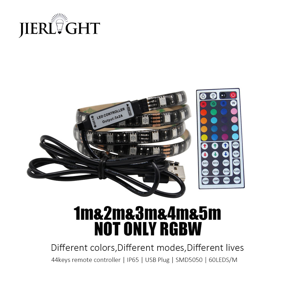 USB LED Strip Light Waterproof 5V SMD5050 Strip Light RGB 1m 2m 3m 4m 5m Flexible Tape Ribbon TV Background Lamp Strip
