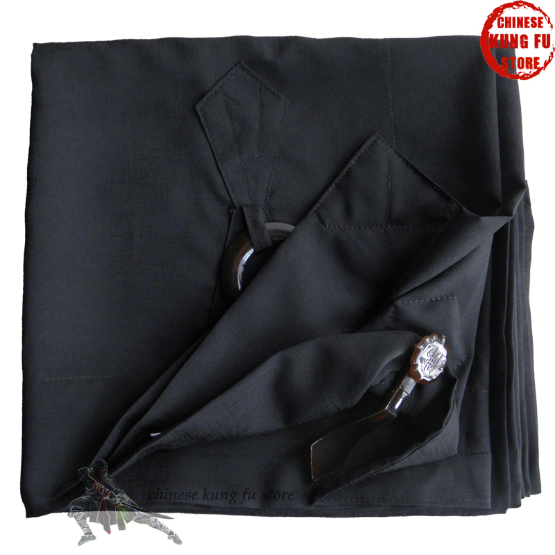 Black Color Zen Buddhist Manyi Kesa Robe Shaolin Monk Long Gown Meditation Clothes<br>