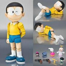 Free shipping Anime Cartoon Doraemon The Robot Spirits Nobi Nobita PVC Action Figure Toy 12CM(China)