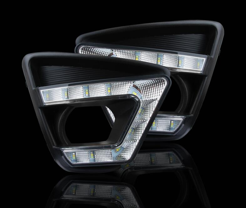 Osmrk LED DRL daytime running light for mazda cx-5 2012-2016, wireless switch, yellow turn signal and blue night light<br><br>Aliexpress