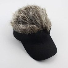 Adjustable Size Mens Fake Hair Wig Baseball Cap Fanny Hats Black,Dress Up Cosplay Party etc.
