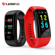 Buy LEMFO Smart Band 2018 Color Touch Screen ip68 Waterproof Blood Pressure Oxygen Heart Rate Monitor Sport Bracelet Talk Band Mi for $19.88 in AliExpress store