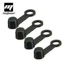 4Pcs Universal Black Motorcycle Motorbike Rubber Brake Bleed Nipple Grease Cap Dust Cover(China)