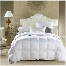 Factory Shop Hot Sell 370GSM 95% Goose Down From European 7 Blanket Duvet Doona Quilt Blanket Comforter King 240X210cm(China)
