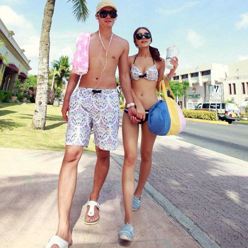 Couple swimwear lovers swimsuit bikini set 2 pieces bikini swimsuit summer beachwear striped man trucks family light swimwear<br><br>Aliexpress
