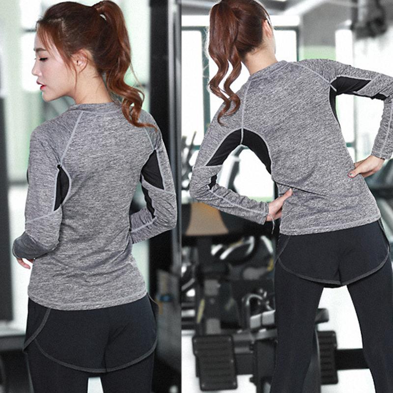 Lumier Professional Yoga Shirt Long Sleeve 9 Types Autumn Fied Quick Drying Running Gym Sport T shirt Women Fitness Tee Top (6)