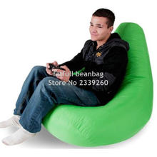 Cover only  No Filler - 	MAN 's gaming bean bag living room chair, outdoor adults beanbag sofa beds, high back folding chairs