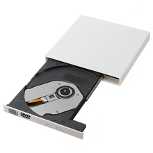 USB 2.0 External DVD ROM Optical Drive Combo VCD/CD-RW  Burner DVD/CD VCD player Portable  For Computer pc, Windows7/8 (White)