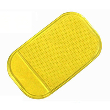 Magic Anti-Slip Non-Slip PU Mat Car Dashboard Sticky Pad Adhesive Mat for Cell Phone Yellow(China)