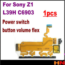 1pcs For Sony Xperia Z1 L39h C6902 C6903 Power Button Switch On/Off Volume Flex Cable Replacement Part