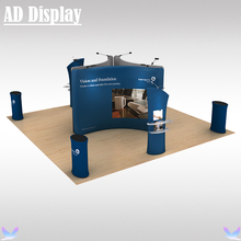 20ft*20ft Tradeshow Booth Size Aluminum Stand Tension Fabric Banner Pop Up Display Exhibit,Premium Durable Advertising Equipment