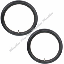 "2.75-17 70/100- 17"" Inch Inner Tube with Straight Stem TR-4 for PIT PRO Trail Dirt Bike Off-road RM Pack of 2(China)"