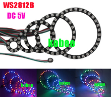 WS2812B 5050 RGB LED 1 8 12 16 24 32 Bits Ring Lamp Light with Integrated Driver(China)