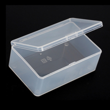 1PC Store Small Clear Plastic Transparent With Lid Storage Box Coin Collection Container Case 10*6*3.6CM