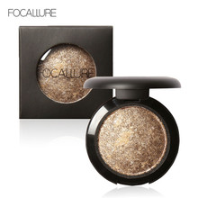 FOCALLURE Single Baked Eye Shadow Powder Makeup Palette in Shimmer Metallic Glitter Cream Eyeshadow Palette for Eyes Make