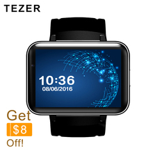 TEZER top sports 900mAh Battery 5.1 android wrist smart watch 3G GPS wifi GSM BT video player Sleep Tracker support for Whatsapp