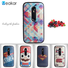 Relief Painted Pattern Soft Silicon 5.0for Moto G3 Case For Motorola Moto G3 G 3rd Gen Cell Phone Cover Case