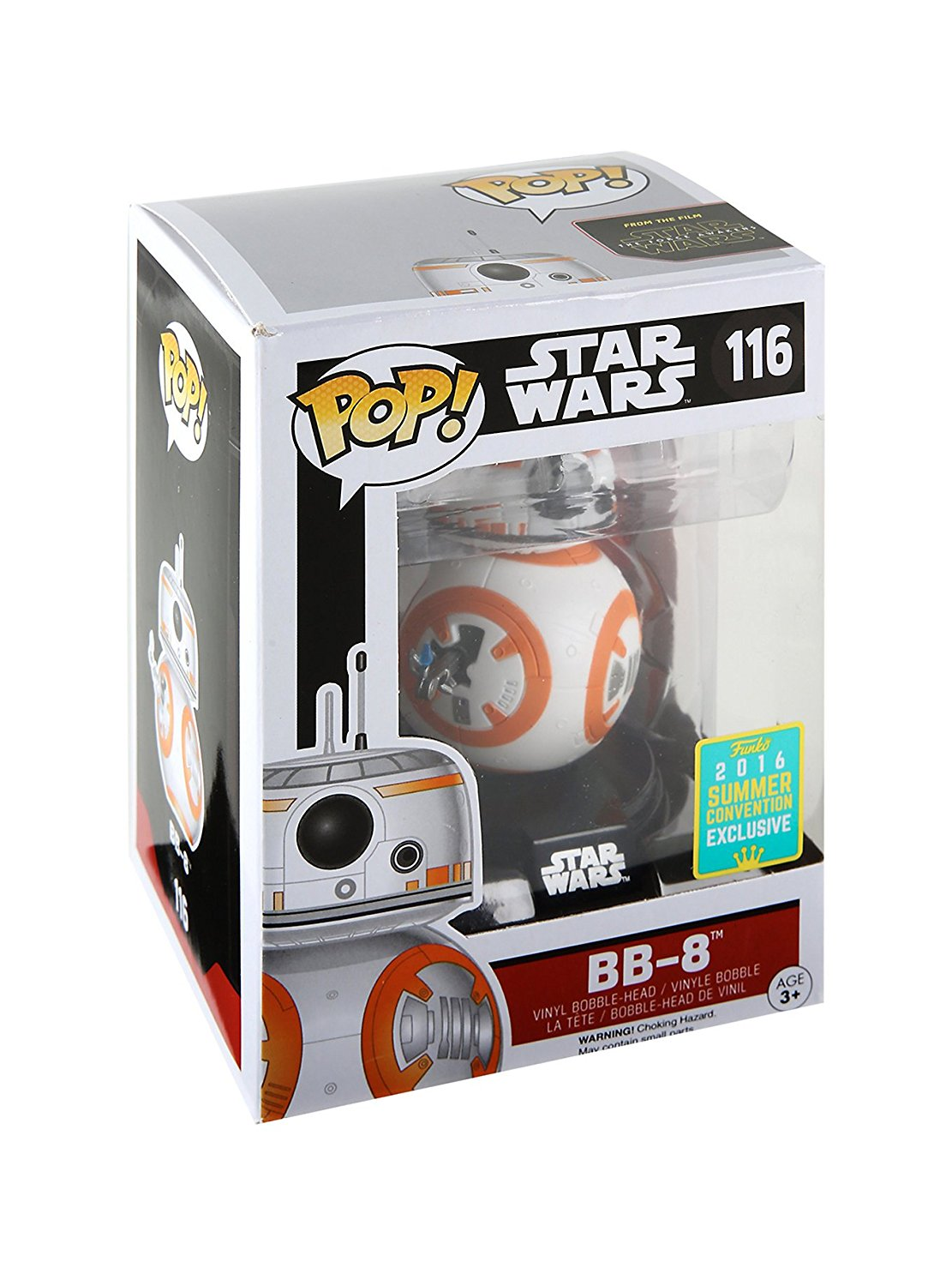 2016 Exclusive Funko pop Official Star Wars - BB-8 (Thumbs Up) Bobble Head Vinyl Action Figure Collectible Model Toy<br>
