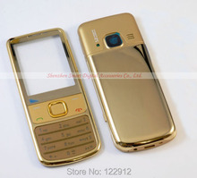 Gold Metal Housing Cover Case For Nokia 6700 Classic 6700C + Keypad Repair Part Free Shipping