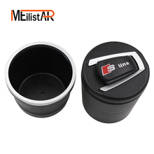 Combustion-retardant PET Cigarette Ashtray LED Ashtray Cigarette Ja For Audi A1 A3 A4 A5 A6 S3 S6 Q2 Q3 Q5 Q7 TT Car Accessories