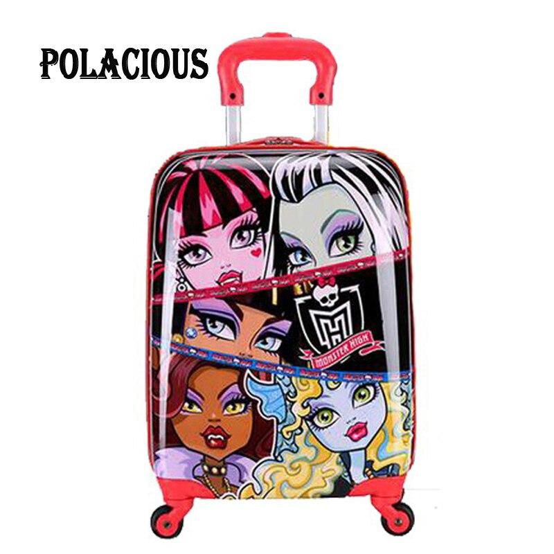 18 inch Children Luggage Suitcase,Child Kid Boy Girl Princess Cat  ABS Cartoon trolley case box Traveller Pull Rod Trunk<br><br>Aliexpress