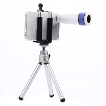 8X Optical Zoom Lense Mobile Phone Lenses Cell Phone Lens for iPhone 6 5S Samsung/ Digital Camera with Universal Desktop Tripod(China)