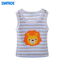5pcs / lot Summer Casual Cotton Baby Boy Girls Sleeveless T-Shirts Clothing Cartoon Kids Clothes Children Infant Tees t Shirts