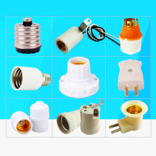 E27 B22 Pendant Lights Lamp Holder E27 E14 High temperature resistant ceramic screw Lamp Base E40 E27 Lamp Holder Converters DIY