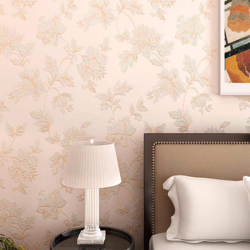 3D Europe Home Decor Thicken Wallpaper 3D Durable Non-woven Wallpapers Rural Floral Wall Paper Mural Papel de Parede N012<br>