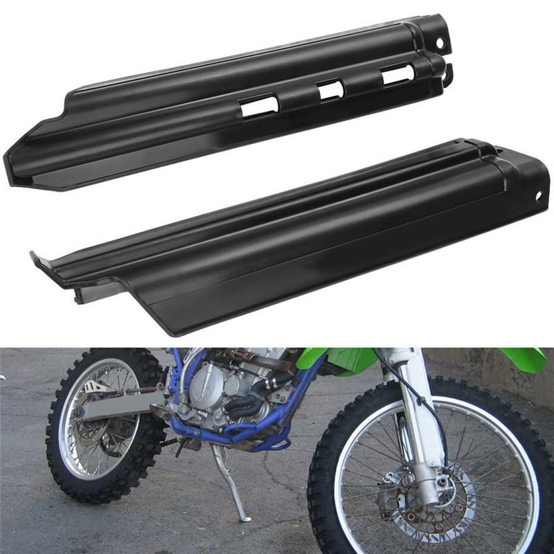 Black Plastic Front Fork Slider Protector Guard For Kawasaki KDX250 KDX200 KLX650 KLX250 KLX300R KDX 200 250 KLX 650<br><br>Aliexpress