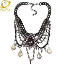New 2015 Vintage Women Chunky Fashion Necklace Tassel Bib Collar  Necklaces&Pendants personalized water-drop Statement Necklace