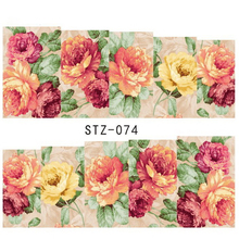 1sheets New Cheap Flower Mix Colors Charm Nail Art Water Transfer Sticker for nails tips Decorations Manicure Tools LASTZ074