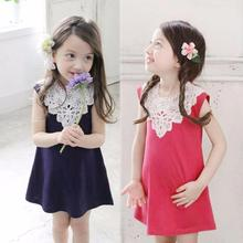 2-6 Years Hot Selling New Trendy Kids Dresses For Lovely Girls Kids Girls Korean Sleeveless Lace Dress Princess Dress Clothing