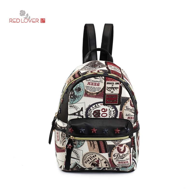 Kpop Mochila Feminina Backpack Lovers In The Spring Of 2016 New Pu Leather Shoulder Bag daypack Fashion Flower Student Backpack<br>