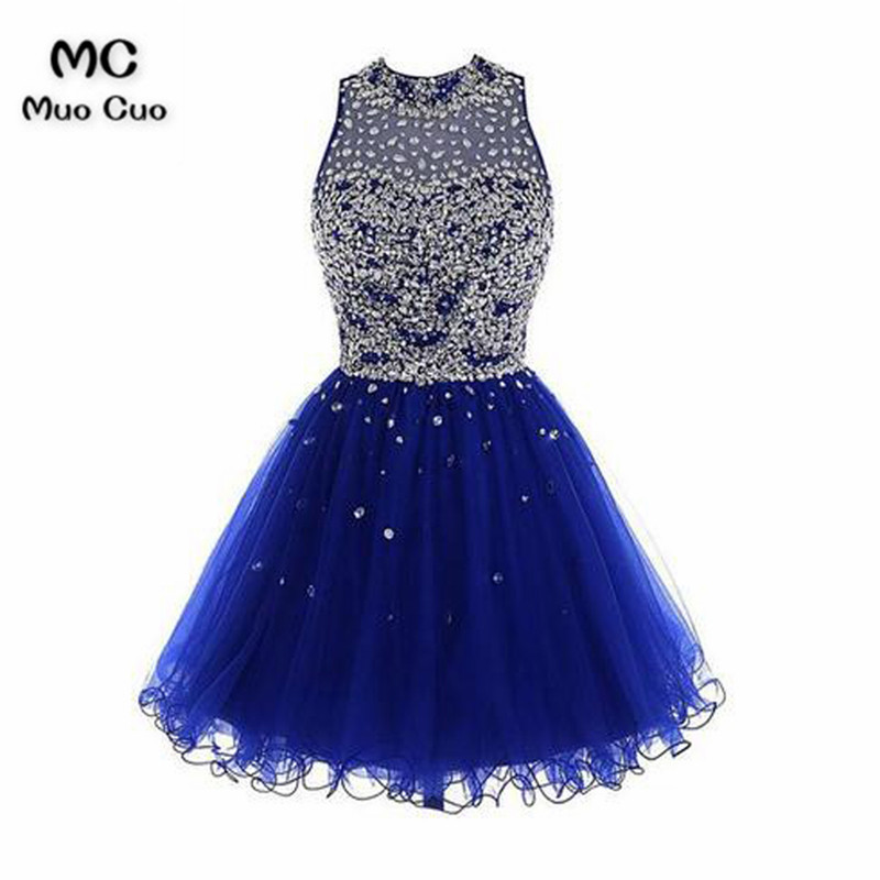 Short Tulle Beading Homecoming Dress Prom Gown