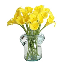 FBIL 5pcs stems of real touch artificial calla lilies(yellow)(China)