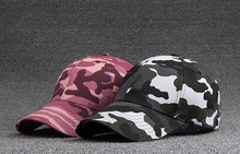 Bulk Hats 30pcs Mens Camouflage Cotton Baseball Caps for Spring Summer Fine Men Sports Camo Ball Hat Women Outdoor Hiking Cap(China)