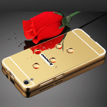 Buy Coque Lenovo S850 Case Gold Plating Aluminum Metal Frame Bumper Case PC Mirror Back Cover Lenovo S850 S 850 Phone Case for $2.87 in AliExpress store