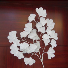 White Wedding Props Stage Background Decoration Road Flower Artificial Ginkgo Biloba White Leaves Casamento Ornament ZA1577