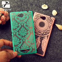 Retro Mobile Phone Cases For Sony Xperia C S39h Z1 Compact Mini C2305 L S36h C2105 C2014 D5503 Cover Flower Hollow Housing Skin
