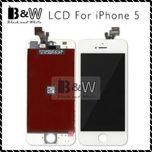 20PCS/LOT Black&White Color and Competitive Price High Quality For iPhone 5 LCD Touch Screen Digitizer Assembly