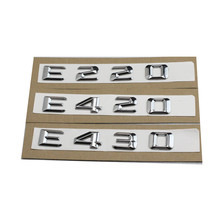 1set NEW for Mercedes Benz W124 W211 E-CLASS E220 E420 E430 Trunk Rear Emblem Badge Chrome Letters